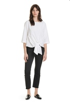 Country Road Tie Front Poplin Shirt