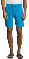 Vilebrequin Baie Solid Linen Cargo Shorts, Bright Royal