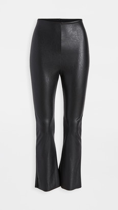 Commando Faux Leather Cropped Flare Leggings