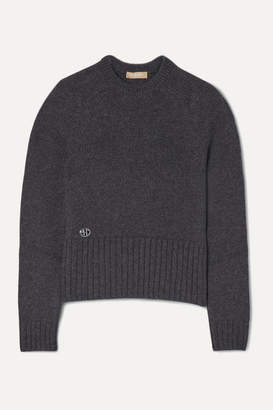 Michael Kors Embellished Cashmere Sweater - Charcoal
