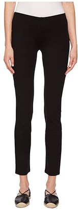 Eileen Fisher Petite Viscose Stretch Ponte Pants (Black) Women's Casual Pants