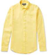 Polo Ralph Lauren Slim-fit Button-down Collar Linen Shirt - Yellow