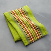 Crate & Barrel Salsa Dos Green Dish Towel