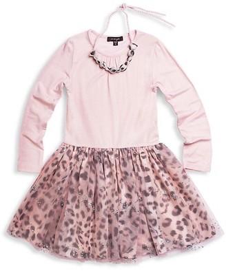 Imoga Little Girl's Girl's Sparkle Floral Dress
