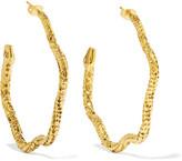 Aurelie Bidermann Tao Gold-plated Hoop Earrings - one size