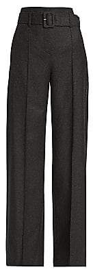 Theory Women's High-Waist Belted Trousers - Size 0