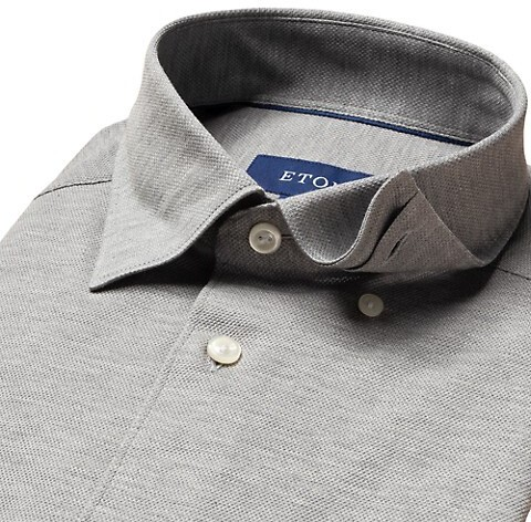 Thumbnail for your product : Eton Slim-Fit Pique Soft Casual Shirt