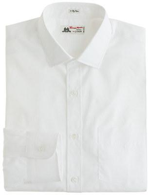Thomas Mason for J.Crew spread-collar dress shirt