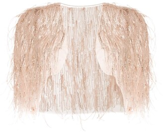 Marchesa Feather Bolero