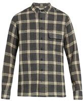 Simon Miller Bexar point-collar plaid wool shirt