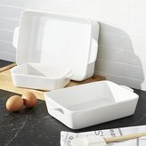 Crate & Barrel White Potluck Baking Dishes Set of Three