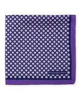 Ermenegildo Zegna Circular Pattern Silk Pocket Square, Purple