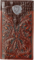 Ariat Tooled Rodeo Wallet with Gator Tab and Logo Concho Wallet Handbags
