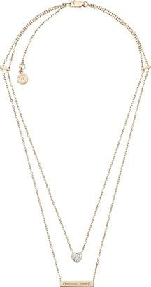 Michael Kors Gold Modern Brilliance Lobster Clasp Pendant Necklace