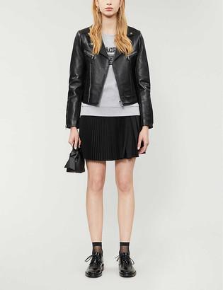 Claudie Pierlot Carissae leather biker jacket