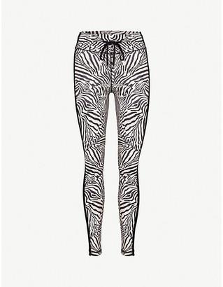 The Upside Zebra animal-print stretch-jersey leggings