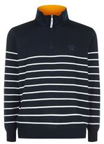 Paul & Shark Striped Half Zip Jumper