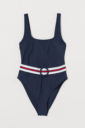 H&M Belted swimsuit High leg