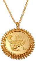 "ASA Jewelry Goldtone Lion Medallion Pendant with 30"" Chain"