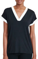 Lauren Ralph Lauren Petite Colourblocked Jersey Top
