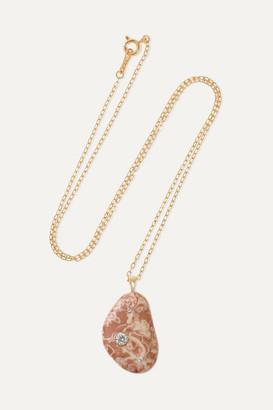 Cvc Stones Tantalize 18-karat Gold, Stone And Diamond Necklace - one size