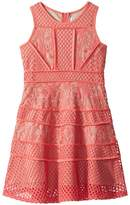 Us Angels Lace And Mesh Fit-and-Flare Dress Girl's Dress