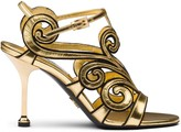 Prada baroque-style ankle strap sandals