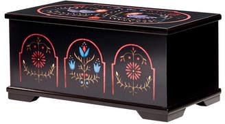 Mele Marley Wooden Jewelry Box with Pennsylvania Dutch Motif