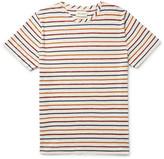 Oliver Spencer Slim-fit Striped Mélange Cotton-jersey T-shirt