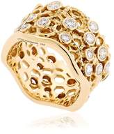 Aurelie Bidermann Dentelle Gold Ring With Diamonds