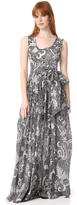 Diane von Furstenberg Floor Length Pleated Dress