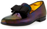 Bally Barks Petrol Patent Leather Formal Loafer