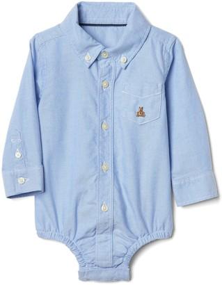 Gap Baby Oxford Button-Up Bodysuit
