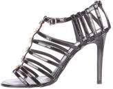Chanel Bow-Accented Cage Sandals