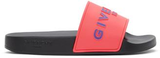 Givenchy Pink Logo Slides