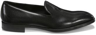 Giorgio Armani Pebbled Texture Leather Dress Shoes