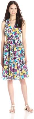 Kasper Women's Sleeveless Lawn Wrap Dress