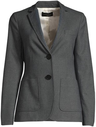 Piazza Sempione Micro-Tweed Two-Button Blazer