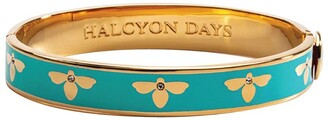 Halcyon Days Gold-Plated Bee Bangle