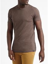 Scotch & Soda Short Sleeve Crew Neck T-shirt, Deck Yellow Melange