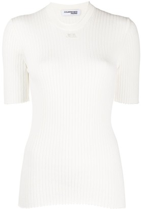 Courreges ribbed crew neck T-Shirt