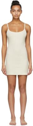 SKIMS Off-White Cotton Rib Slip Dress