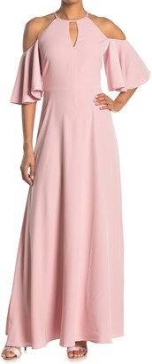 Ted Baker Dulciee Cold Shoulder Bell Sleeve Maxi Dress