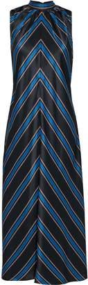 Sachin + Babi Tie-back Printed Silk-satin Midi Dress