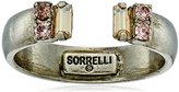 "Sorrelli Sand Dune"" Petite Crystal Open Ring, Size 7-9"