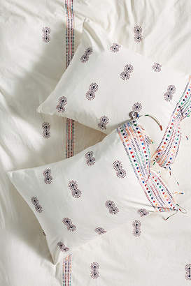 Anthropologie Embroidered Mariko Shams, Set of 2 By in Assorted Size S2 qn sham