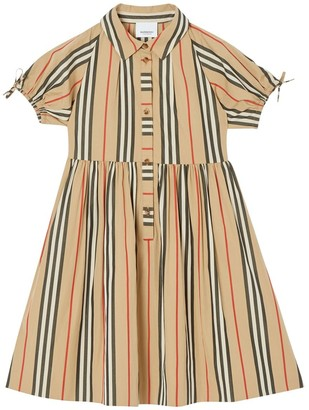 Burberry Signature Stripes Cotton Poplin Dress