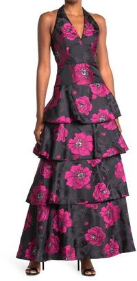 Rachel Roy Suzette Floral Jacquard Gown