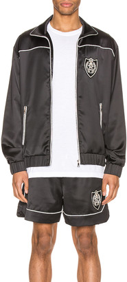 Keiser Clark The Academy Tracksuit Jacket in Black & White | FWRD