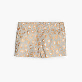 J.Crew Girls' Frankie short in glitter leopard